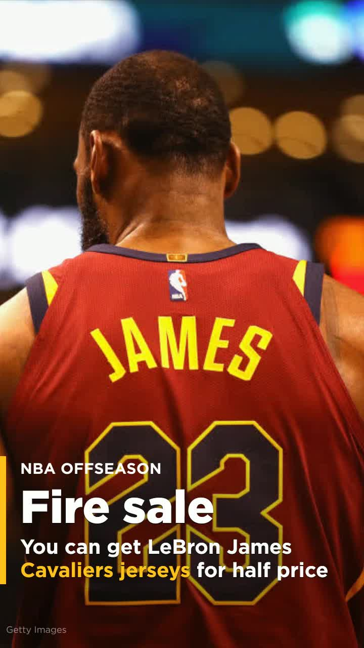 check out 9929e 30c8f You can get LeBron James Cavaliers jerseys for half price now