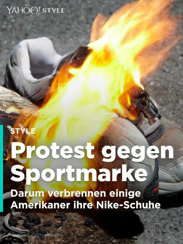 PROTESTE: Warum Amerikaner aus Wut ihre Nike Schuhe verbrennen