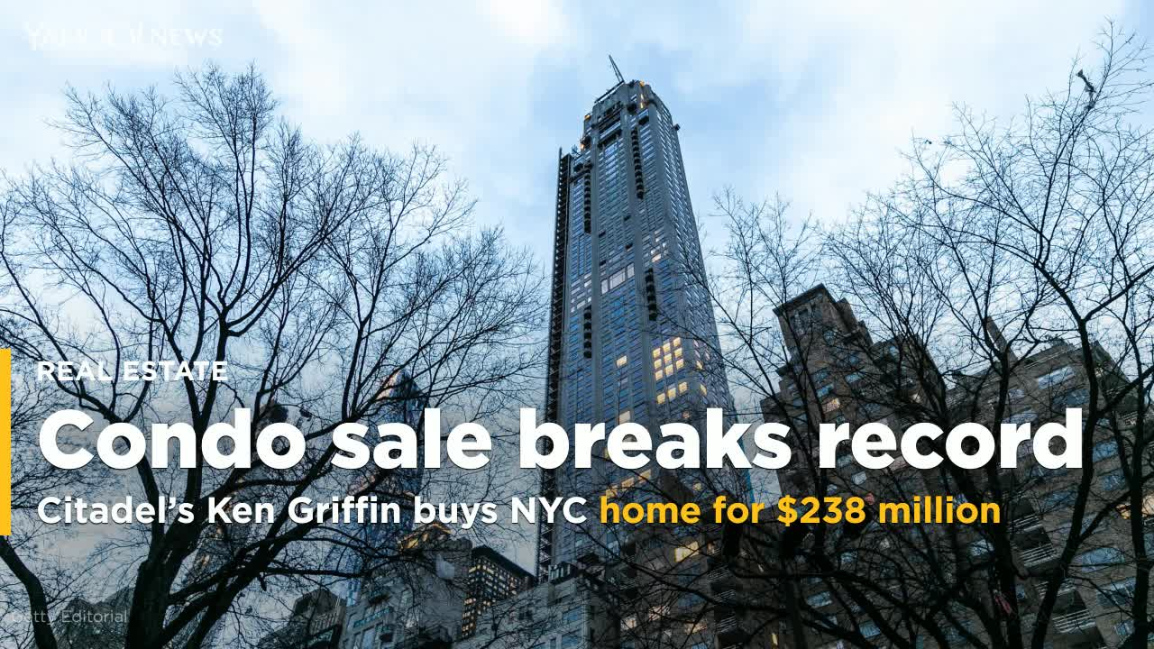 Citadel's Griffin buys New York condo for record $238 million