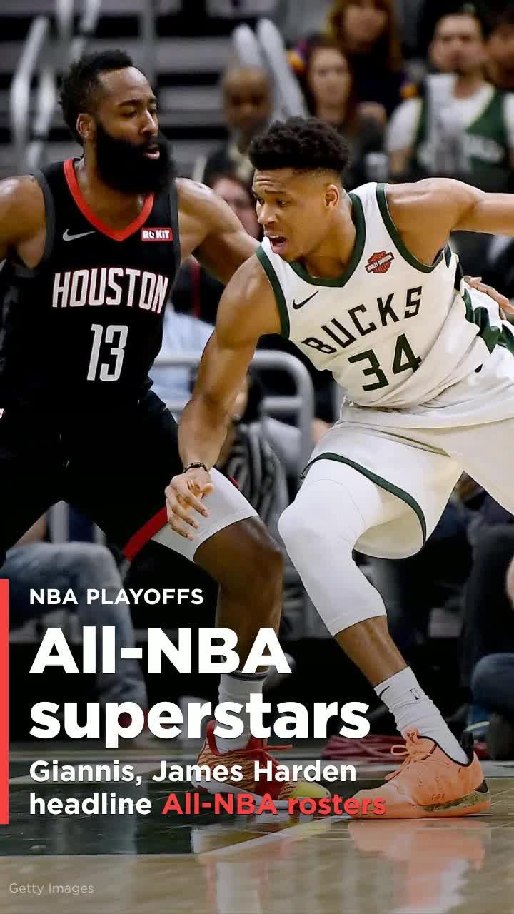 Giannis Antetokounmpo, James Harden top All-NBA rosters