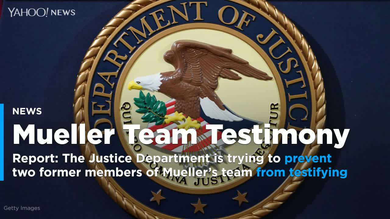 U.S. Justice Department trying to quash Mueller team testimony -report
