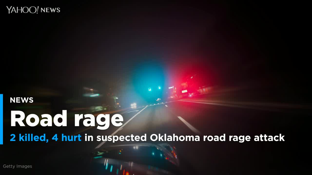 2 killed, 4 hurt in suspected Oklahoma road rage attack