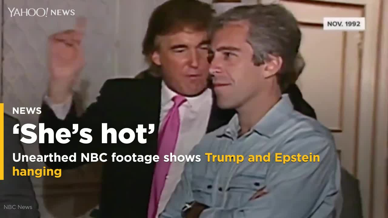 Trump says he never liked Jeffrey Epstein, but footage unearthed by NBC News shows otherwise