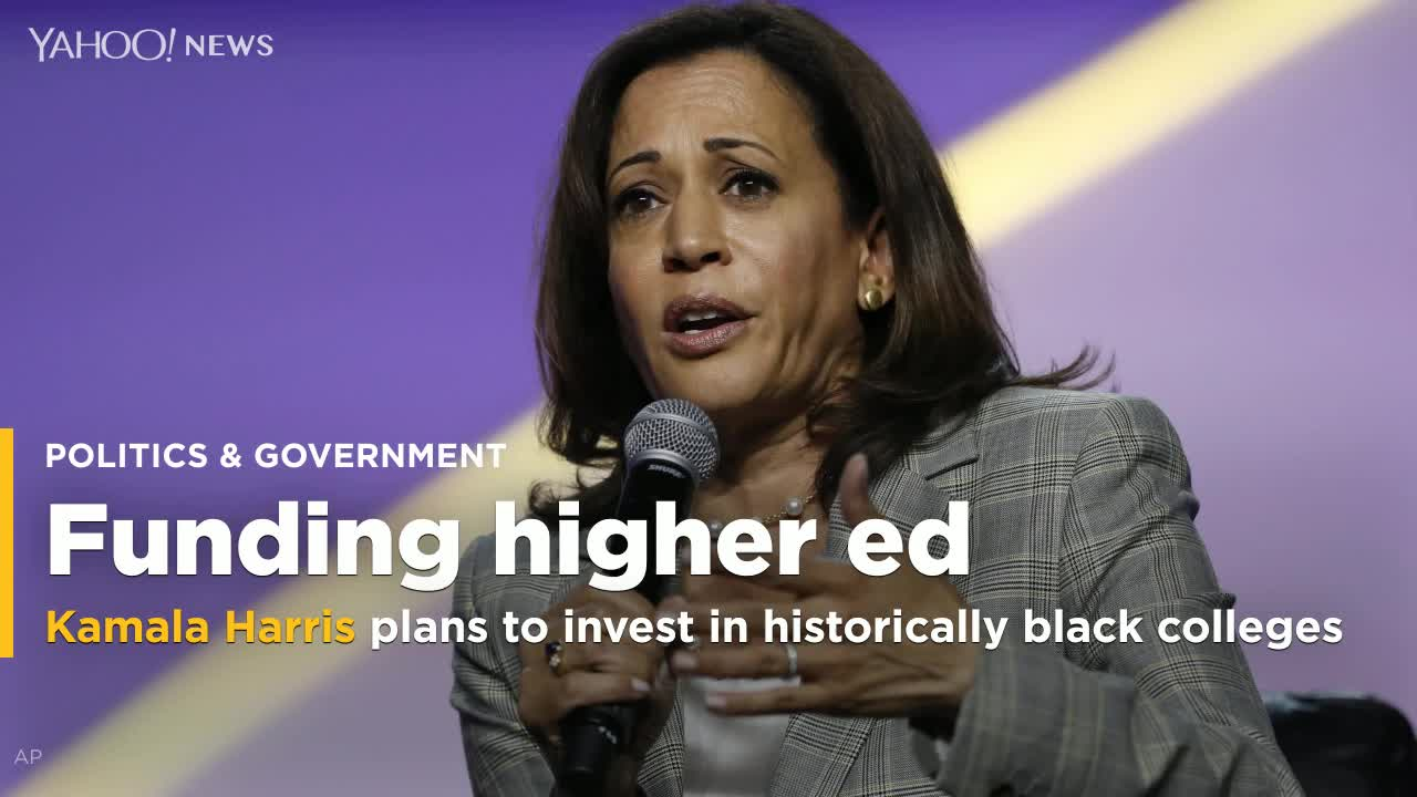 2020 presidential candidate Kamala Harris introduces a plan to invest $60 billion in historically black colleges