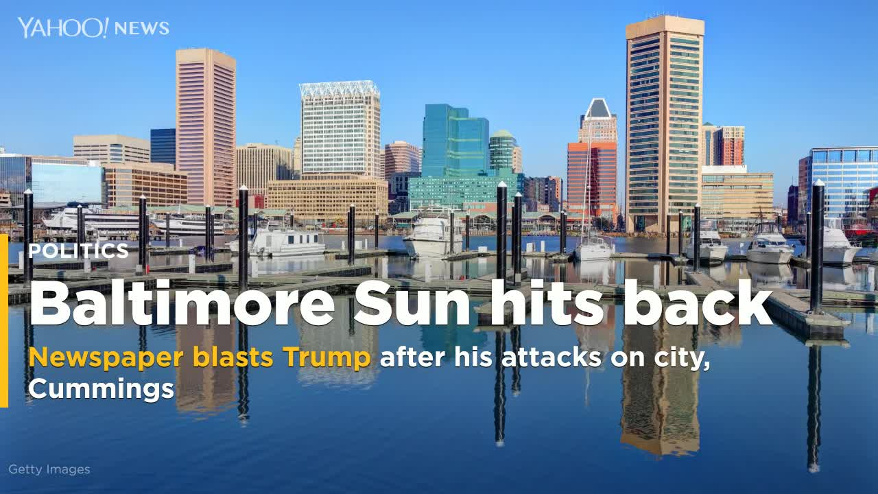Baltimore paper hits back at Trump after his attacks on city