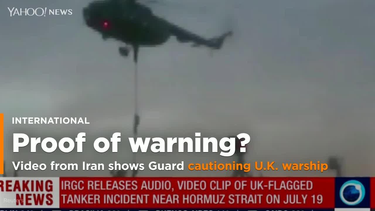 New video from Iran shows Revolutionary Guard warning away U.K. warship
