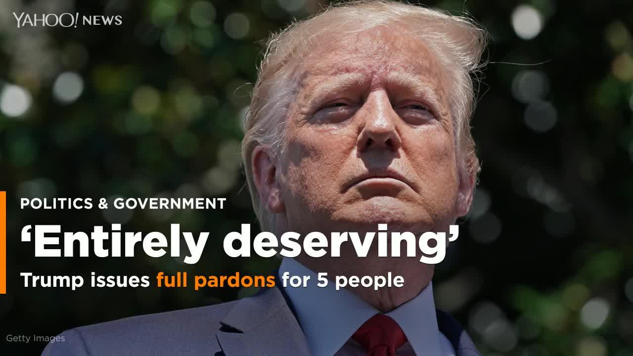 Trump issues full pardons for five convicted criminals