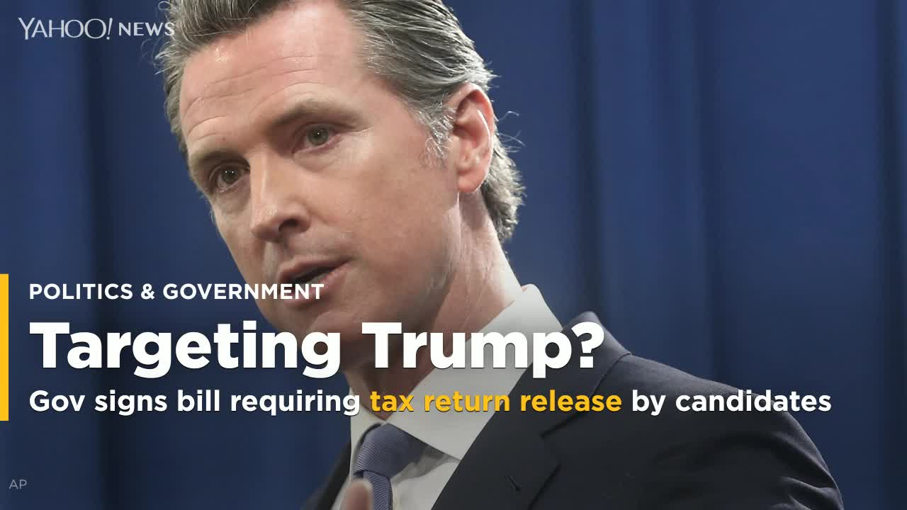 California governor signs bill requiring Trump to release tax returns