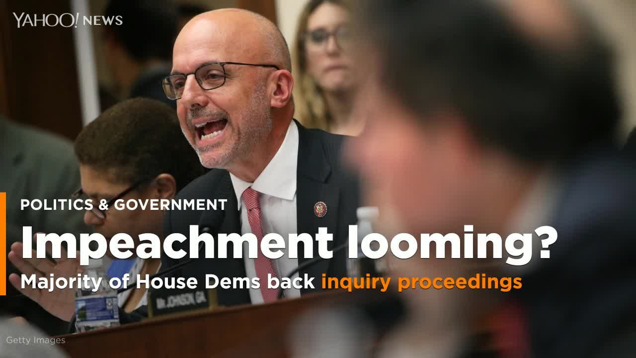 Majority of House Democrats Now Back Trump Impeachment Inquiry
