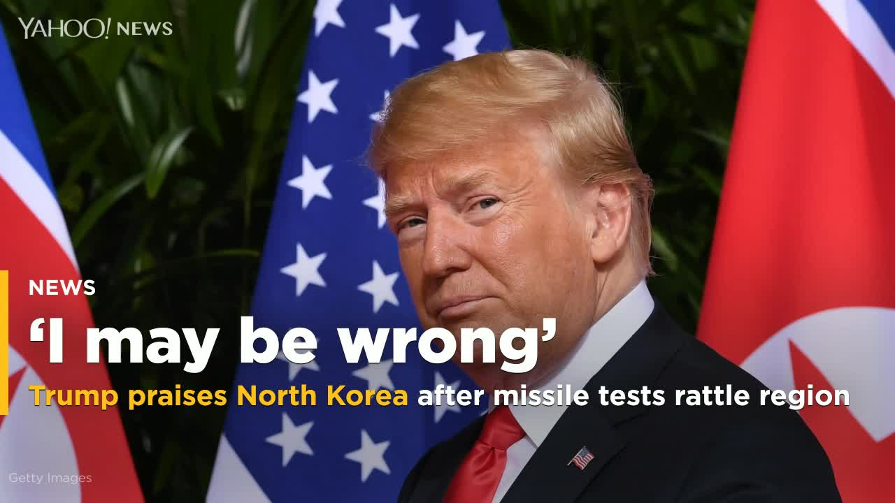 Trump praises North Korea after missile tests shake region