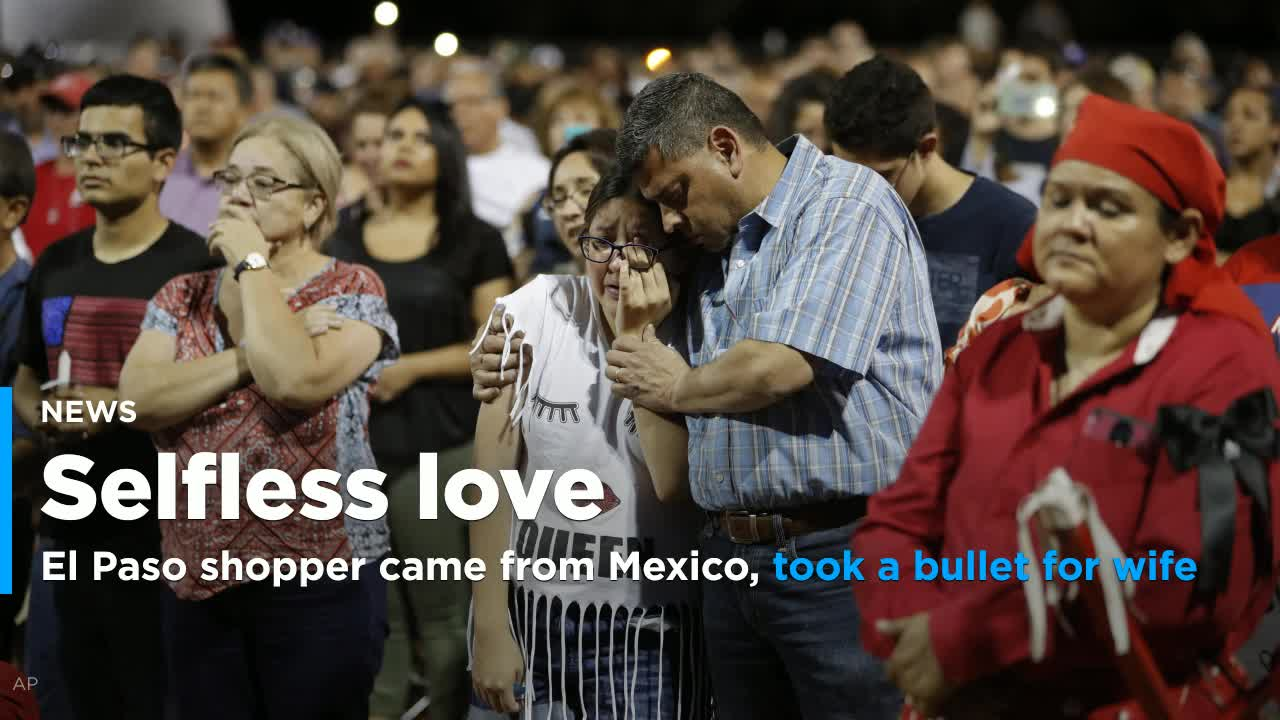 El Paso shopper, recently arrived from Mexico, took a bullet for his wife