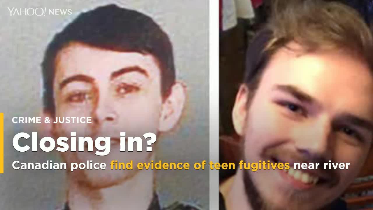Canadian police find evidence of teen fugitives on banks of river