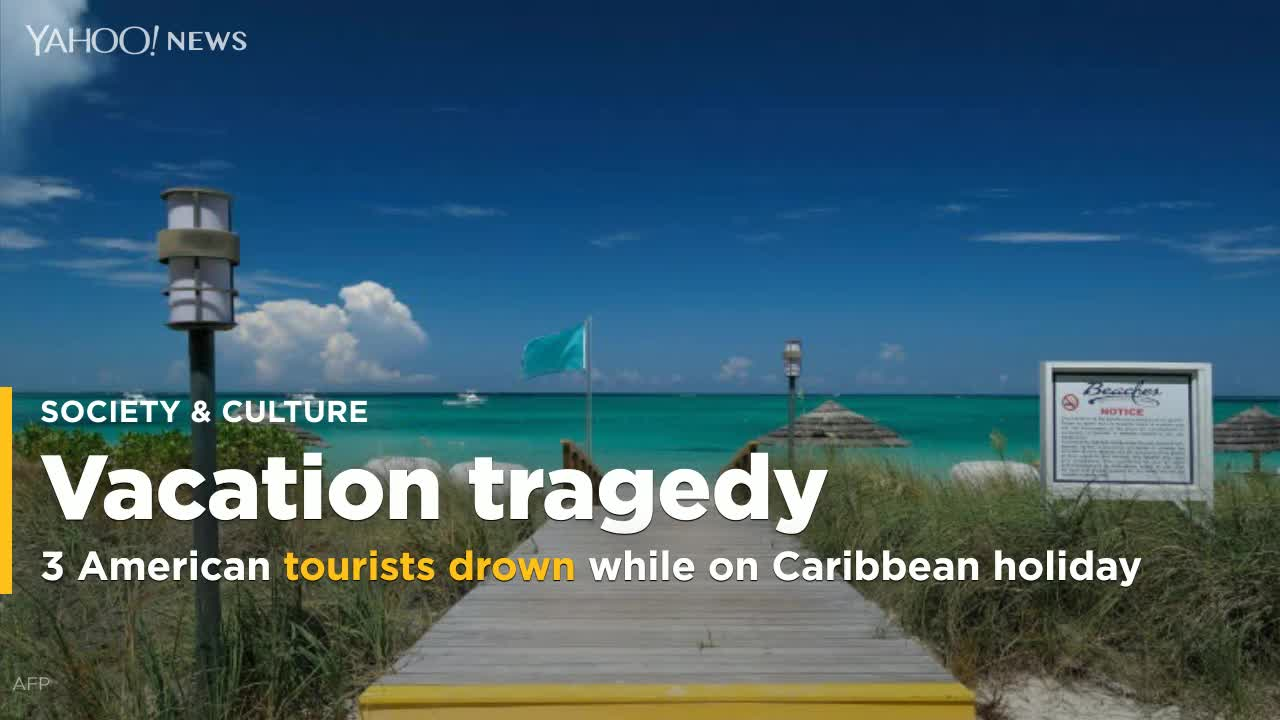 Three US tourists die in Caribbean drowning tragedy