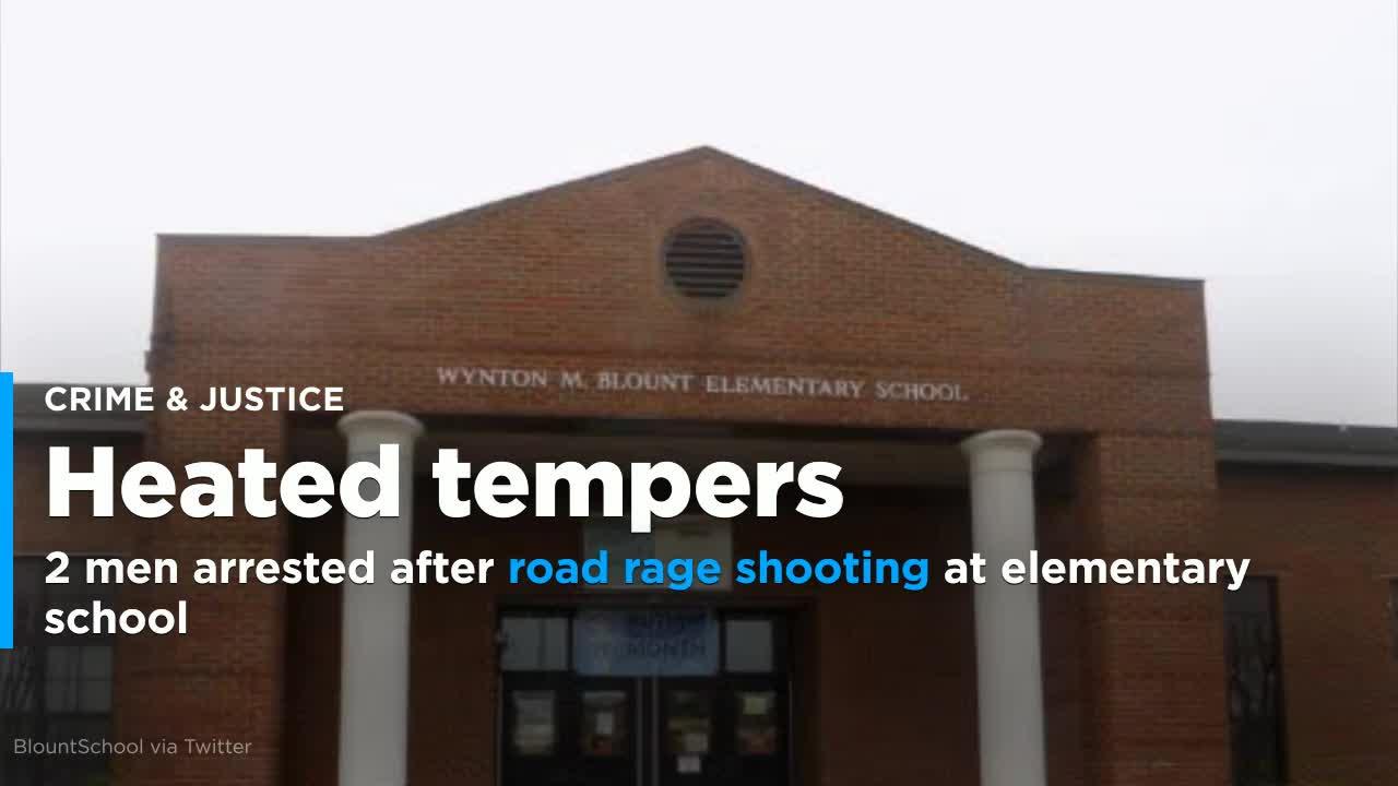 Police: 2 men arrested after road rage shooting at school