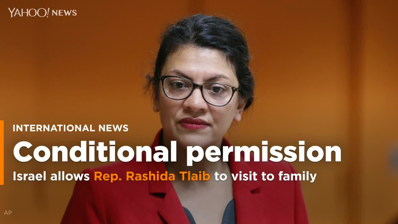 Israel permits Rep. Rashida Tlaib to visit to family in West Bank after barring her from an official visit