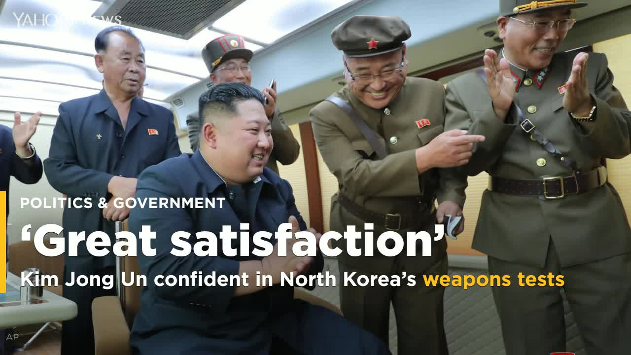 Kim expresses great satisfaction over NKorea weapons tests