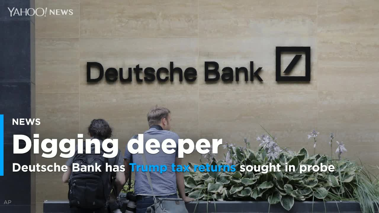 Deutsche Bank says Trump tax returns included in documents sought in congressional probe