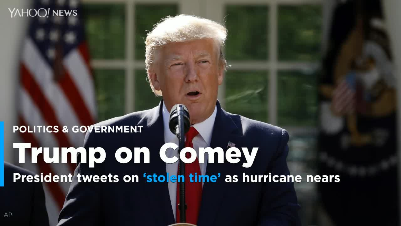 President launches rant over stolen time by FBI as Hurricane Dorian approaches U.S