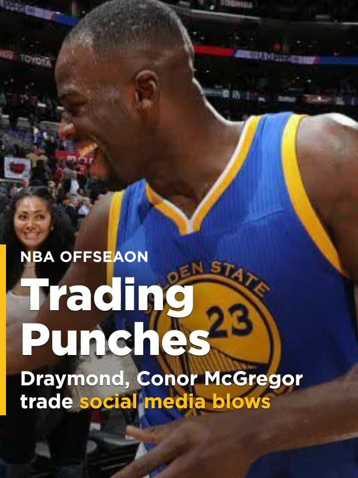sale retailer 8df6b d55c0 Draymond Green, Conor McGregor trade social media blows over Warriors jersey