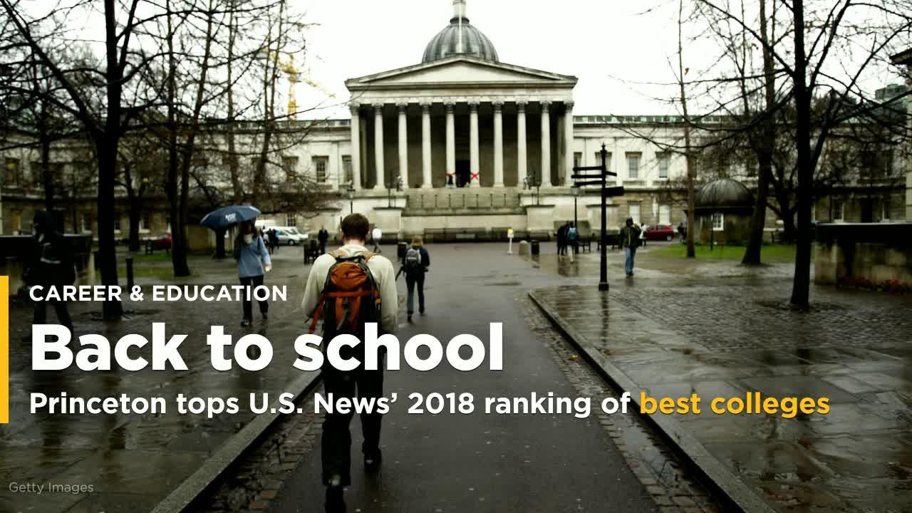 Princeton, Williams Top 2018 U S  News Best Colleges Rankings
